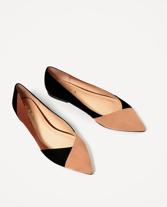 2016 Something Borrowed Pointed Tri Bar Ballerina Flats Black for Women Outlet
