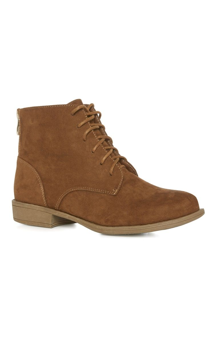 Primark - Tan Zip Military Boot   clothes and such   Shoes, Boots ... d574b0f753bd