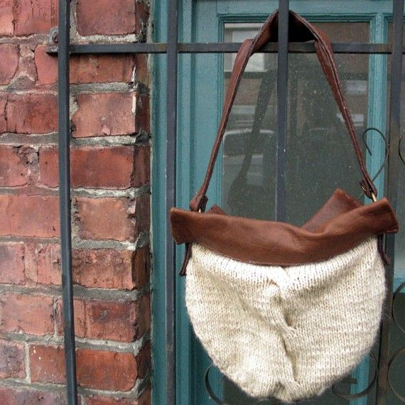 Classic Cable Knit Bag Pattern Pdf Designer Fall Fashion By Skadoot