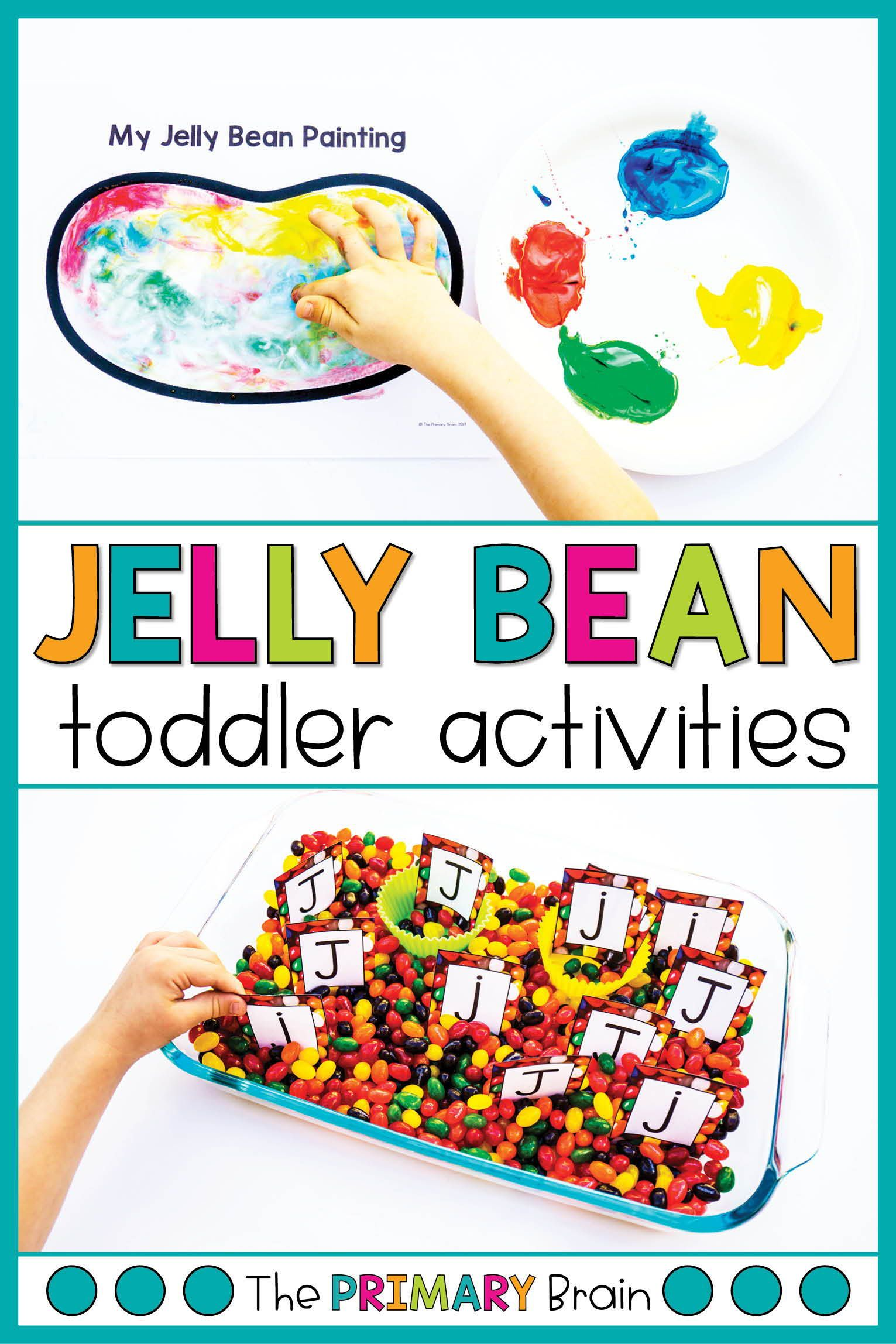 Jelly Bean Themed Toddler School Lessons