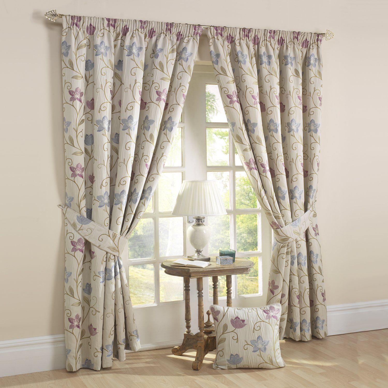 rectella 44 x 90 canterbury rideaux lavande cuisine maison tissu pour rideau. Black Bedroom Furniture Sets. Home Design Ideas