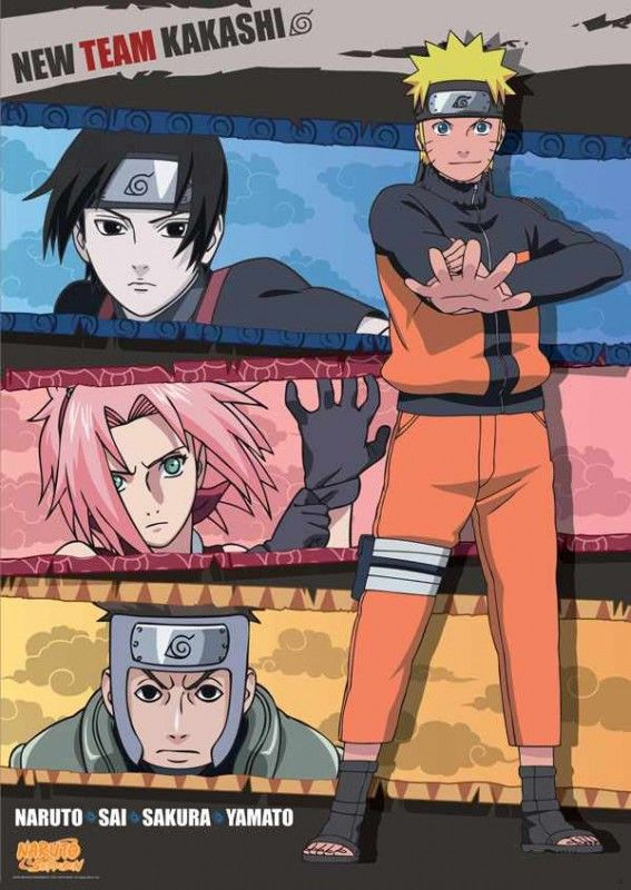 Naruto Poster (98X68 ) New Team