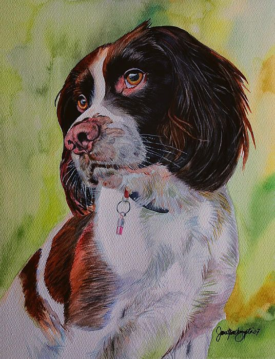 Mans Best Friend A Beautiful Watercolor Painting By Janet Gupta With Images Animal Art Animals Artwork Art