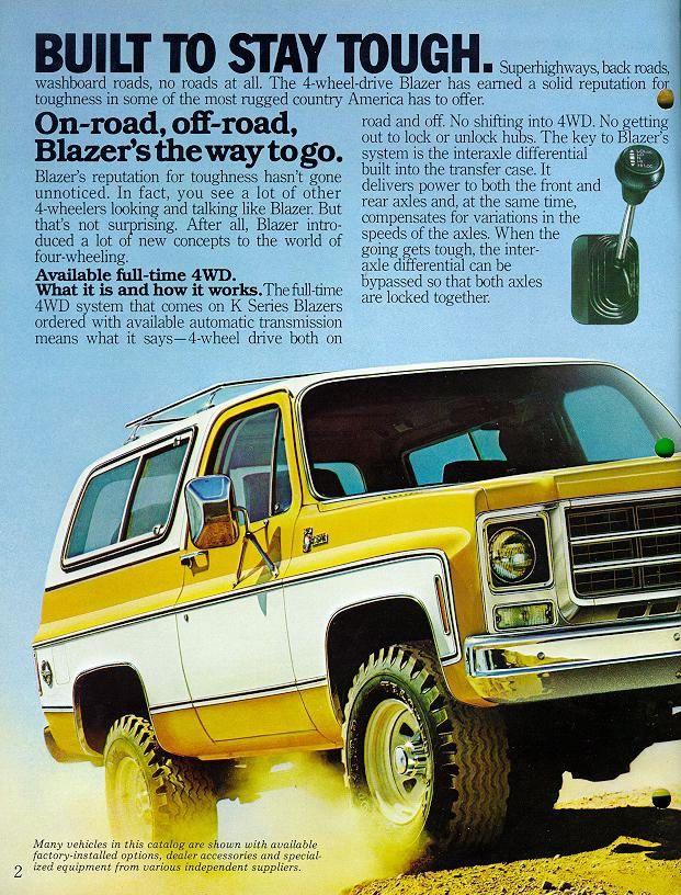 1974 Chevrolet Pickup Blazer Suburban Van Camper RV Truck Sales Brochure