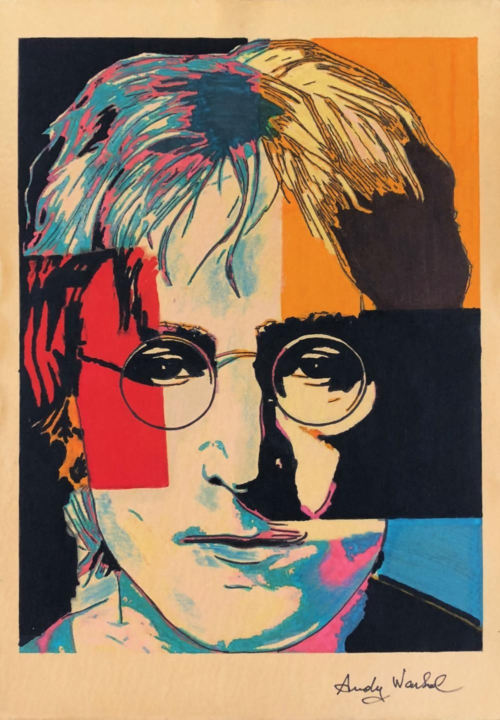 Andy Warhol American 1928 1987 Hand Signed Fine Art Print John Lennon Andy Warhol Pop Art Andy Warhol Art Andy Warhol Pop Art Paintings