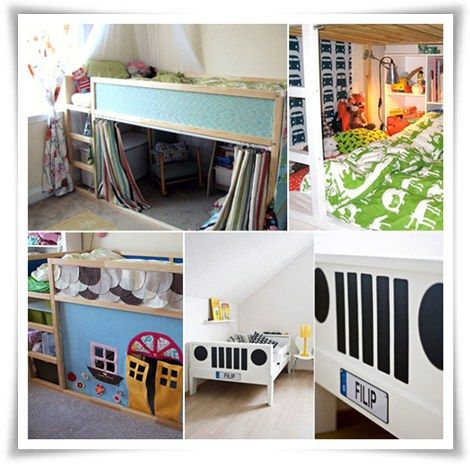 5 l mparas infantiles muy originales ikea hack - Ikea cama infantil ...