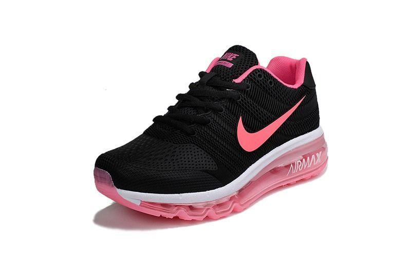 Nike Air Max 2017 Women Black Pink KPU Shoes Air Maxes Pinterest
