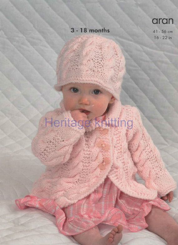 baby sweater and cardigans aran dk knitting pattern 99p