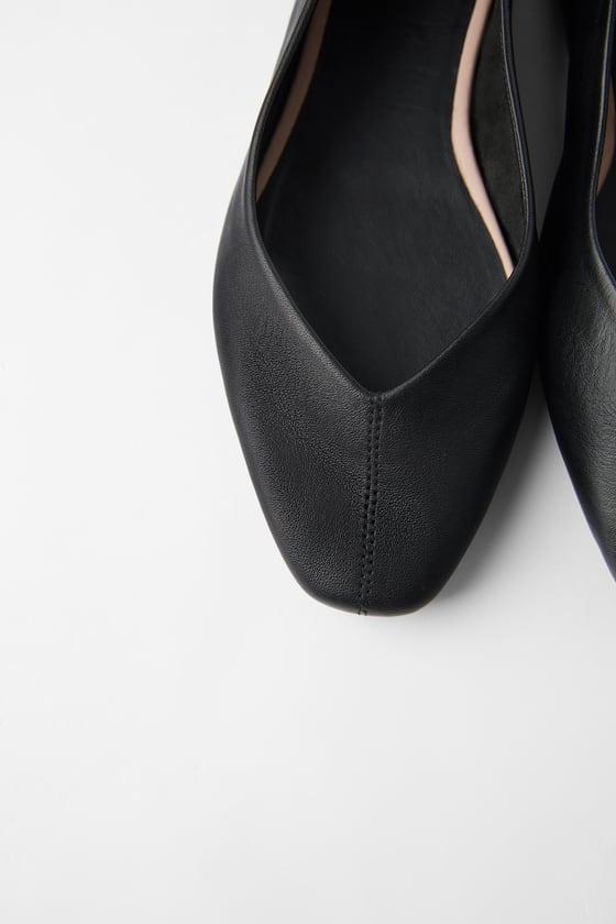 soft black ballet flats