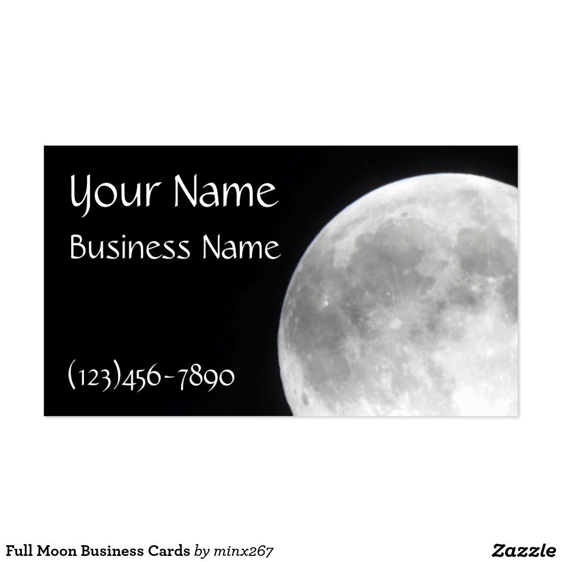 Full Moon Business Cards Printing Business Cards Event Planner Business Card Custom Business Cards