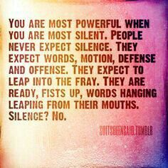 Silence The Power Of Silence Pinterest Silence Quotes Power