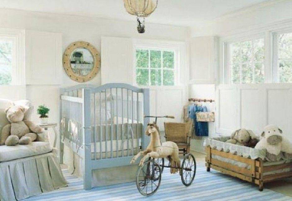 blue + white nursery