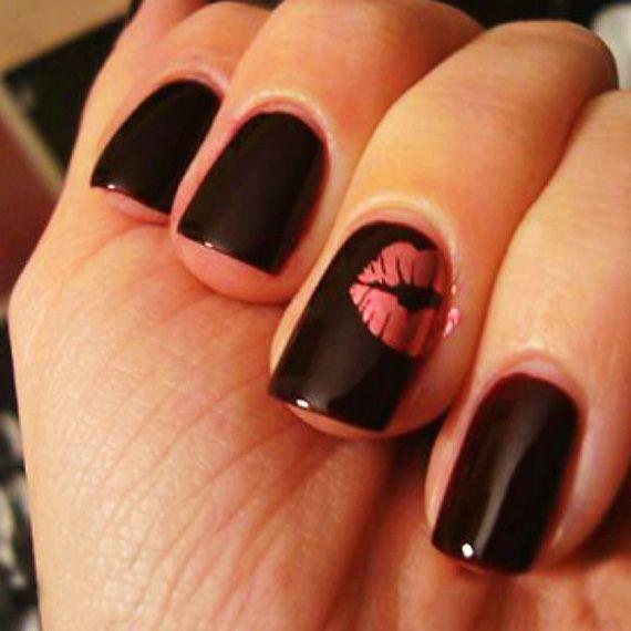 Fotos de uñas color negro – Black Nails – 45 Ejemplos | Pintar Uñas ...