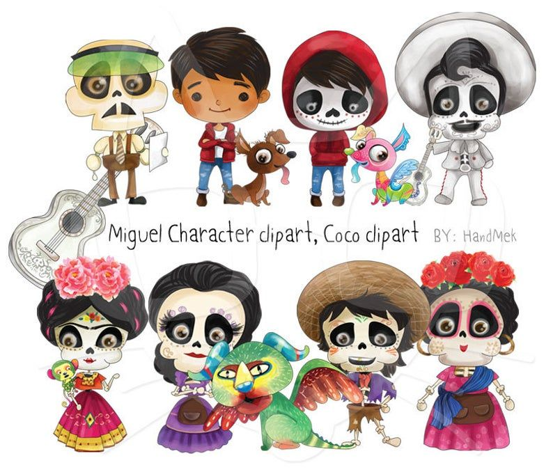 Miguel Character Clipart Instant Download Png File 300 Dpi Halloween Clipart Clip Art Cute Halloween