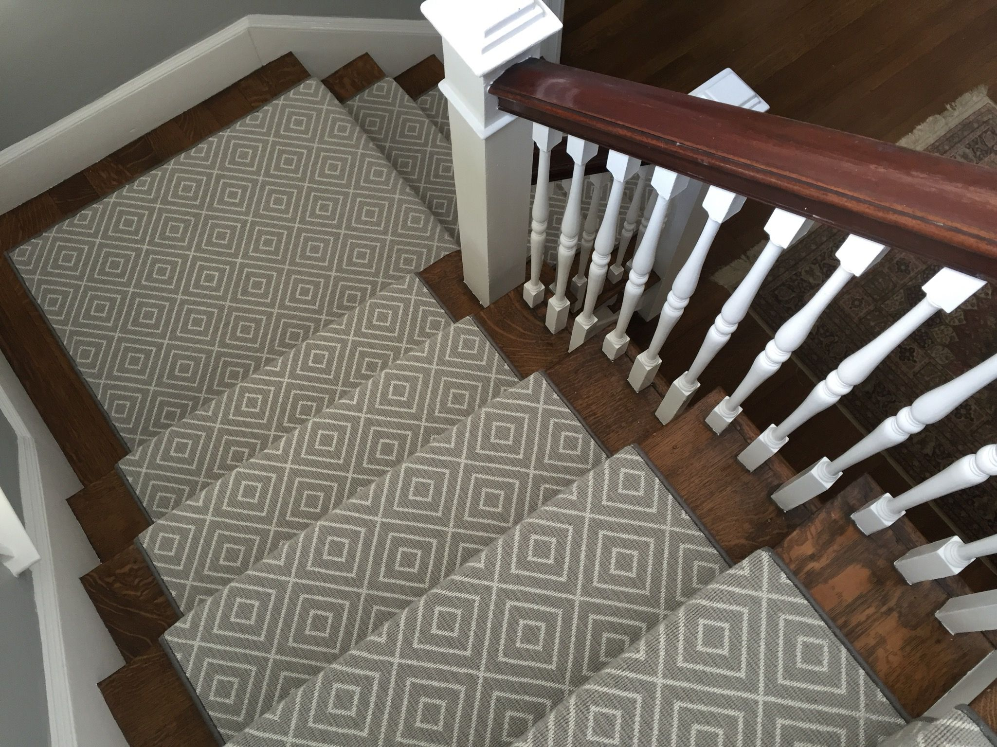 Geometric Stairs Geometric Staircase Melbourne: This Is A #wool Blend We Recently Installed! It's Prestige