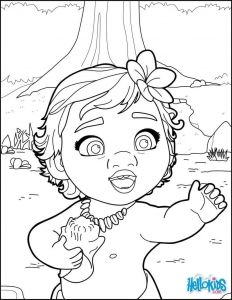 Cute Baby Moana Coloring Page Moana Coloring Pages Moana Coloring Disney Coloring Pages