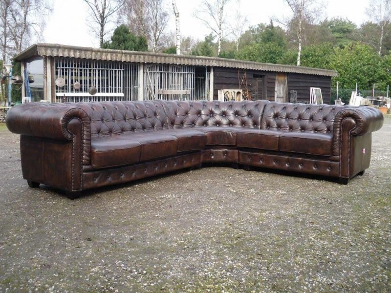 English Chesterfield Sectional Sofa Large Corner Model ...