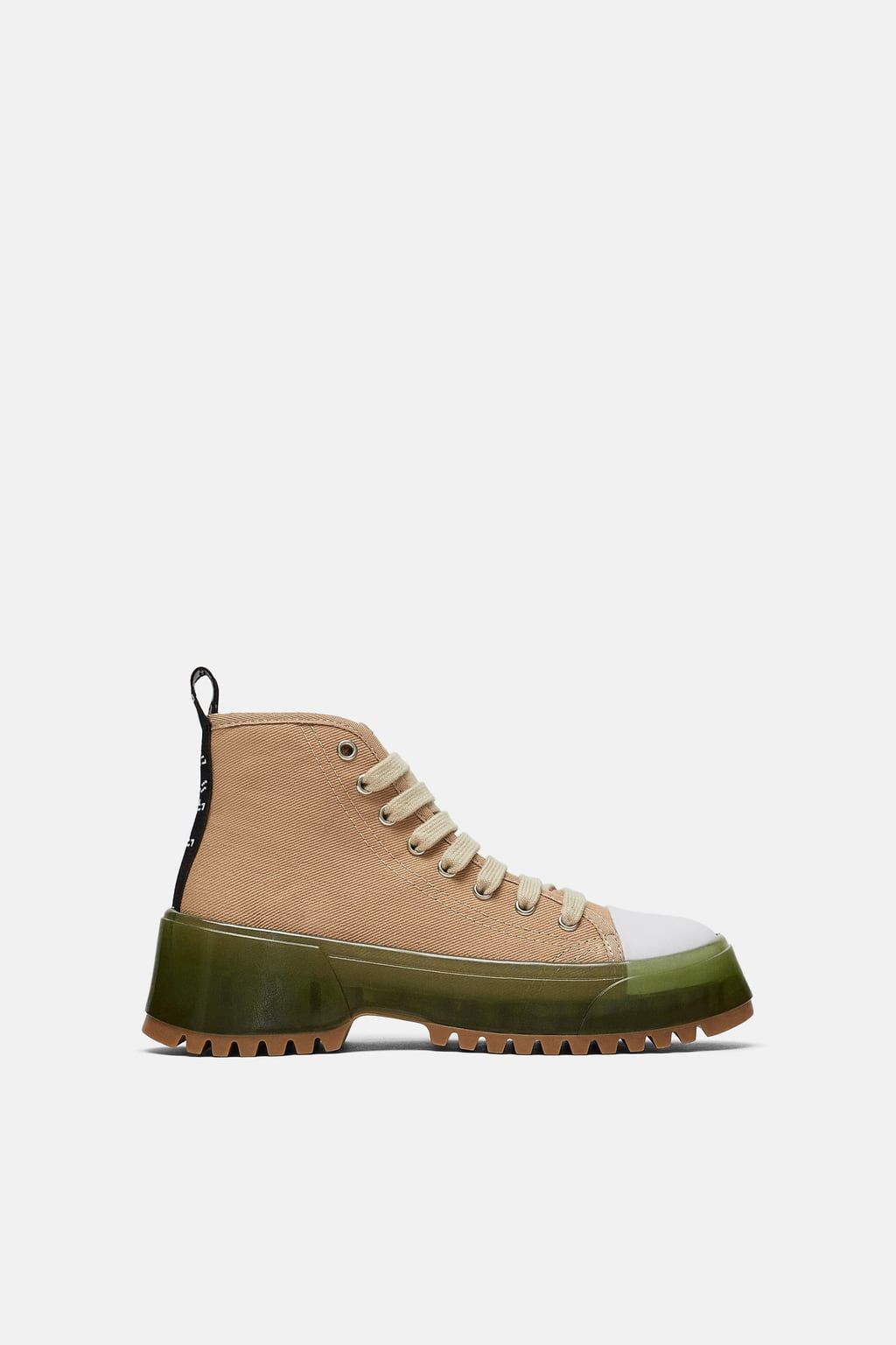 Fabric High Top Sneakers Shoes Trf Zara United Kingdom Palladium Boots Outfit High Top Sneakers Boots