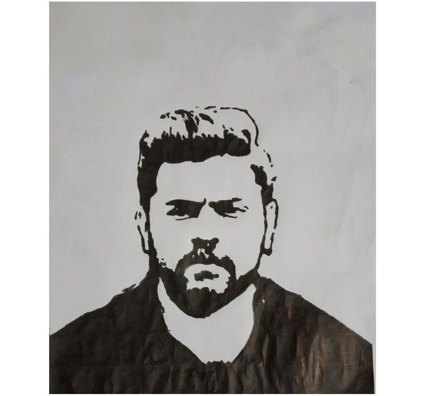 Pin By Rijo Mathew On Malayalam Actors Stencil Celebrity Drawings Drawing Stencils Cute Drawings Of Love
