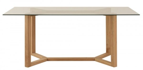 Mesa de Comedor de madera de Olmo Modelo Y. Medida de 160L x 90A x ...