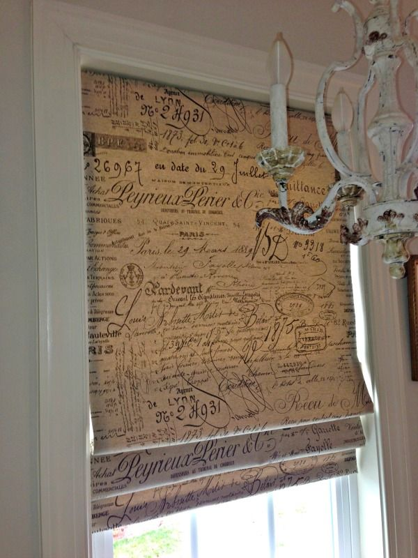 French Script Roman Shade Hanging In Style Designs