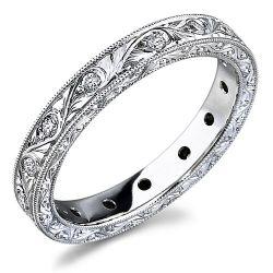 Los Angeles Jewelry District La Diamond Icing On The Ring Engraved Diamond Wedding Band Diamond Wedding Bands Engraved Jewelry Vintage Bridal Accessories