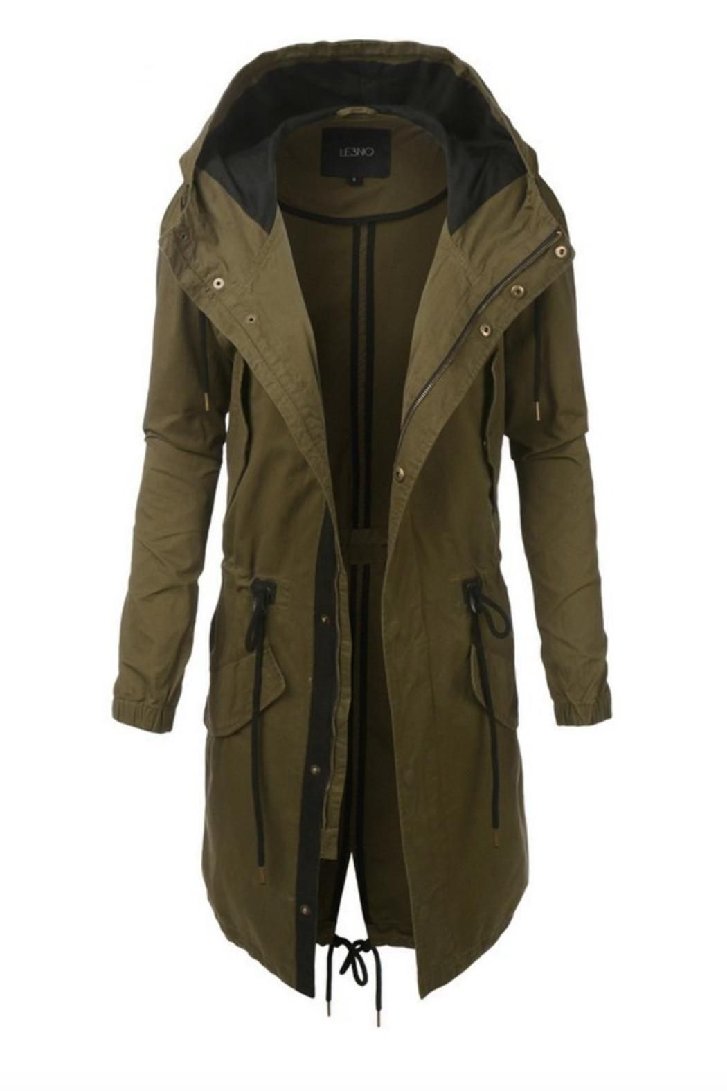Long Green Parka Coats