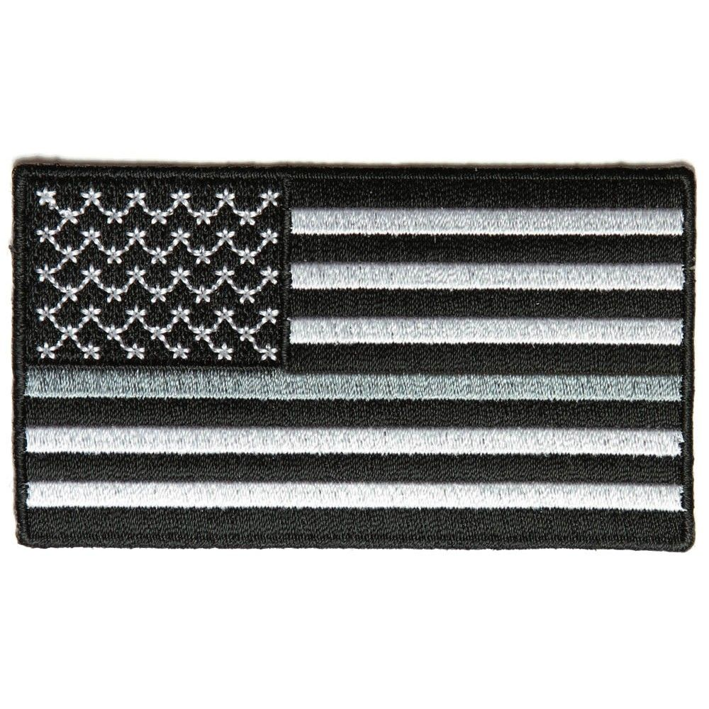 Thin Silver Line American Flag For Corrections American Flag Patch Flag Patches Embroidered Patches