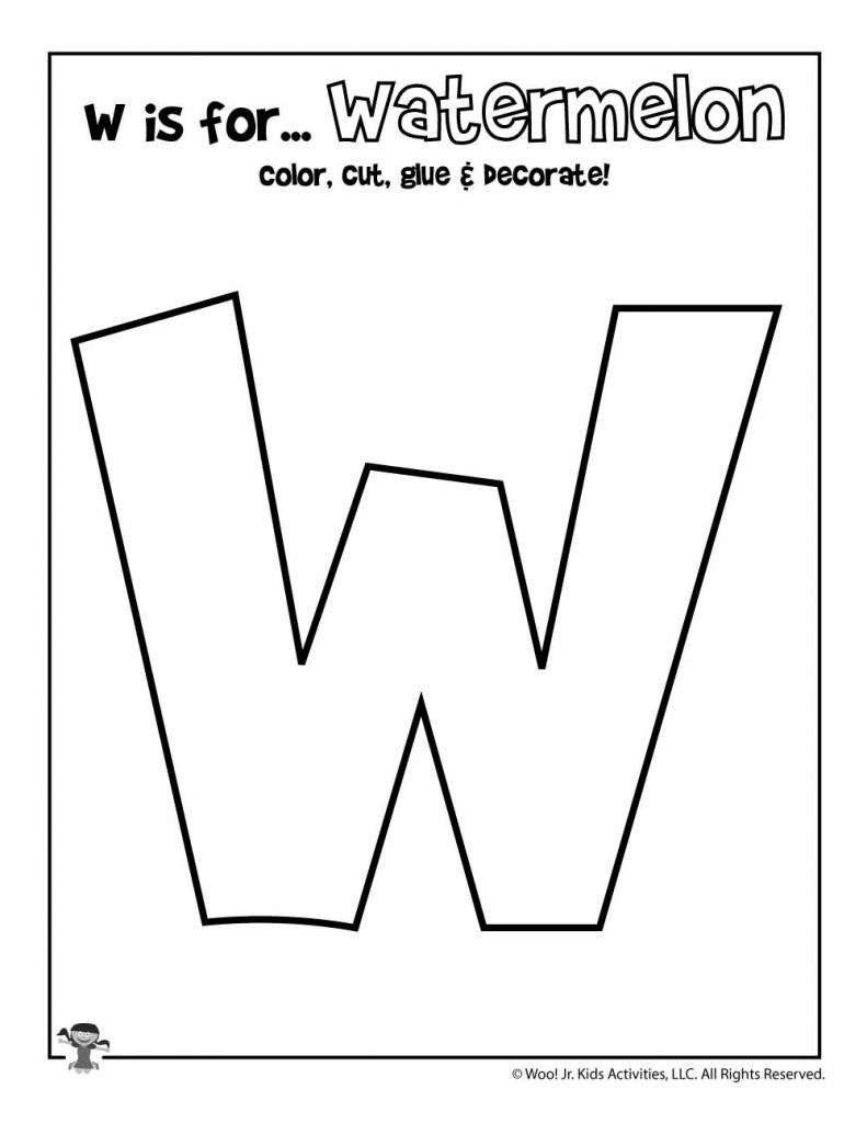 Printable Letter W Craft Woo Jr Kids Activities Letter W Worksheets Letter W Activities Letter W Crafts