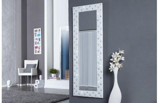 Miroir capitonné blanc Barbara | Miroir design | Pinterest | Miroir ...