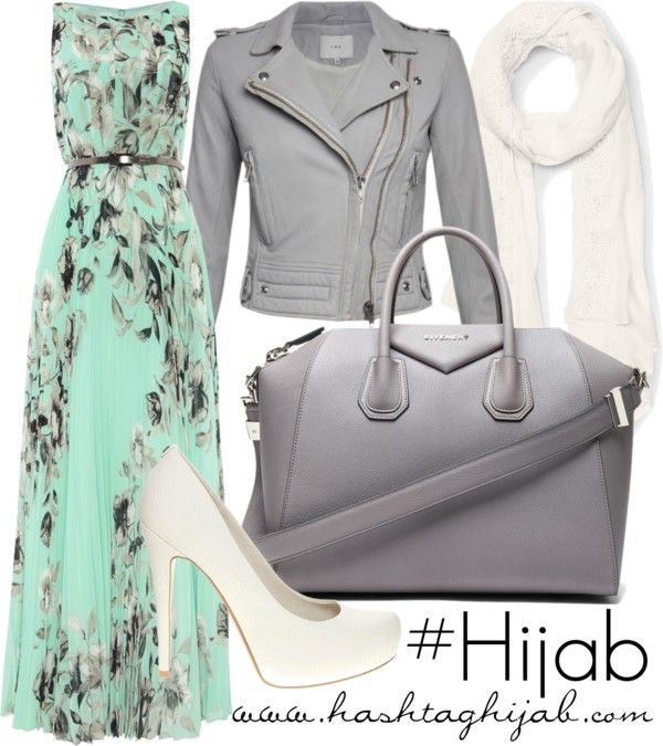 Floral green hijabi outfit - #hijabprincess