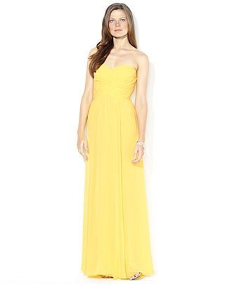 MOM- what do you think? Lauren by Ralph Lauren Dress, Strapless Evening Gown - Womens Mother of the Bride Dresses - Macy's