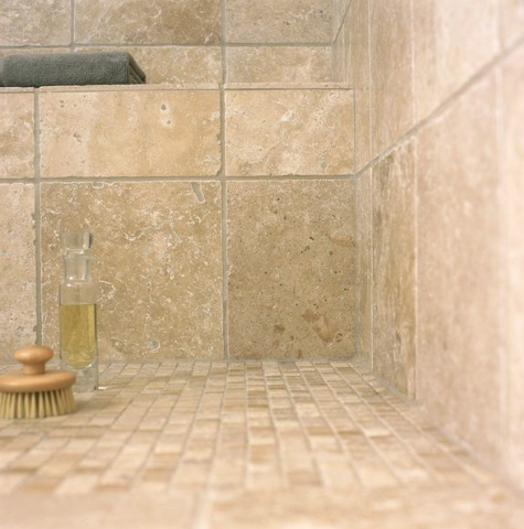 Natural Stone In Shower Bathroom Design Traditional Travertine Tumbled Travertine Tile Mandarin Stone Natural Stone Wall
