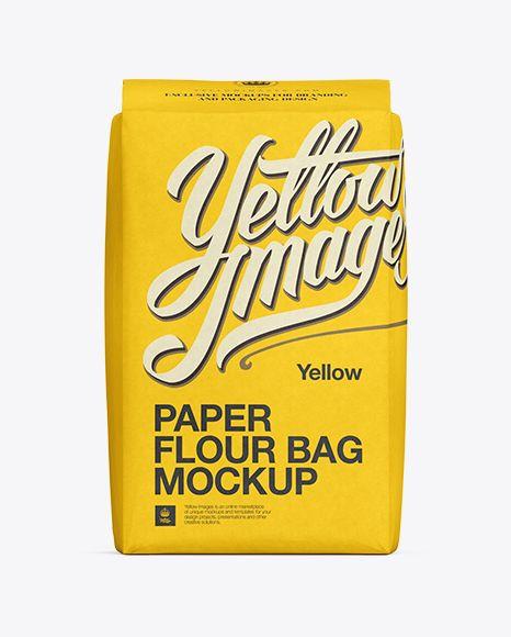 Download Paper Flour Bag Mockup Front View In Bag Sack Mockups On Yellow Images Object Mockups Mockup Psd Bag Mockup Mockup