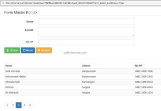 Form Table Pagination Bootstrap Java Php Laravel Linux Mysql Sql Bootstrap Html Css Query Table Form Input Form