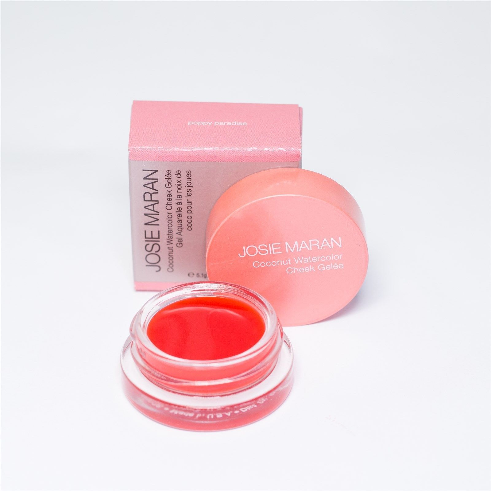 Josie Maran Coconut Watercolor Cheek Gelee Poppy Paradise Hot