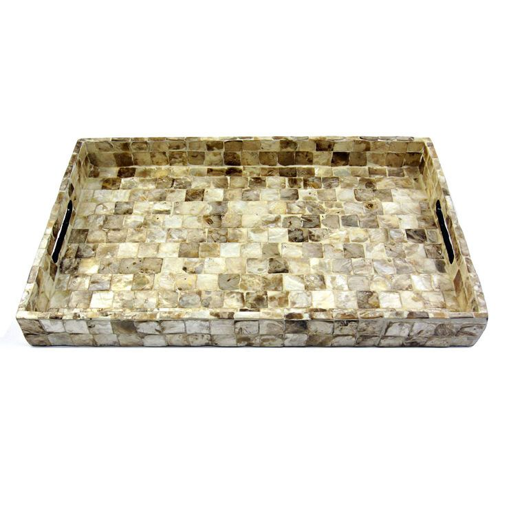 Natural Mop Rectangle Tray 19-in
