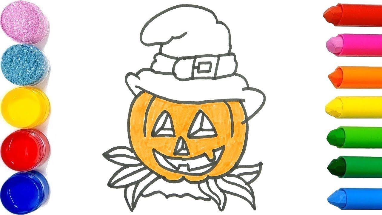 Halloween Pumkin Drawing For Kids Learn How To Draw And Color