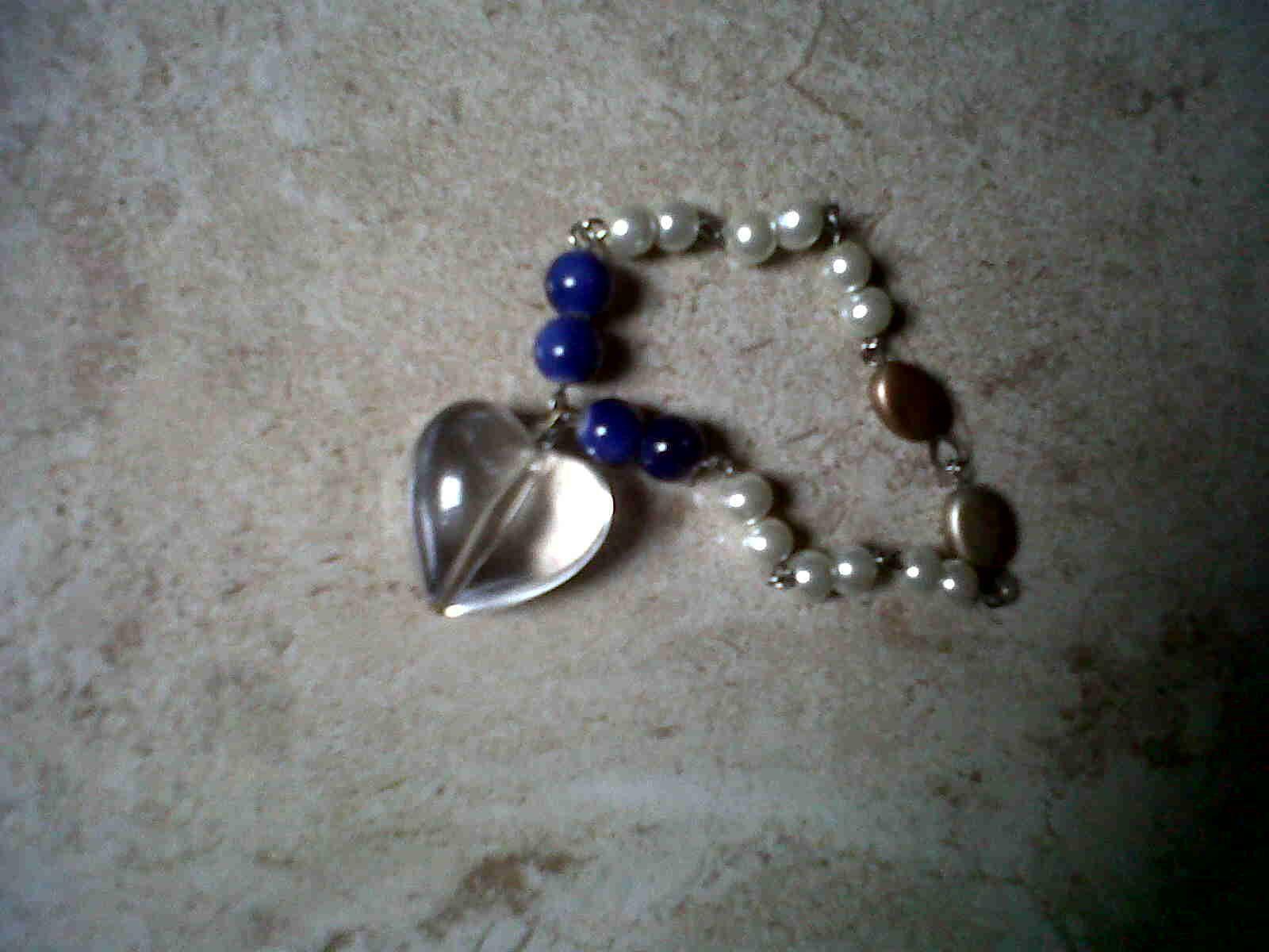 Heart shaped beaded bracelet.