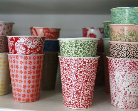 Porcelain Coffee Cups With Coffee