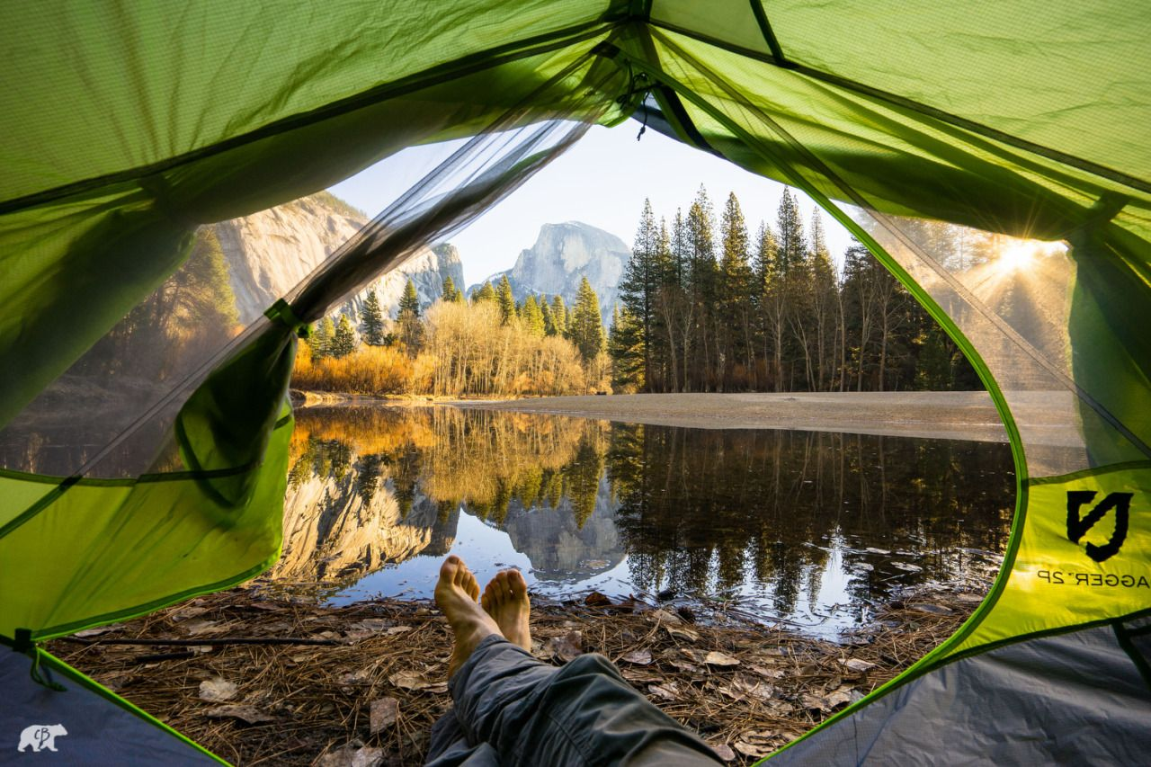 Opening Hiking Morning View Outdoor Camping Tent Camping