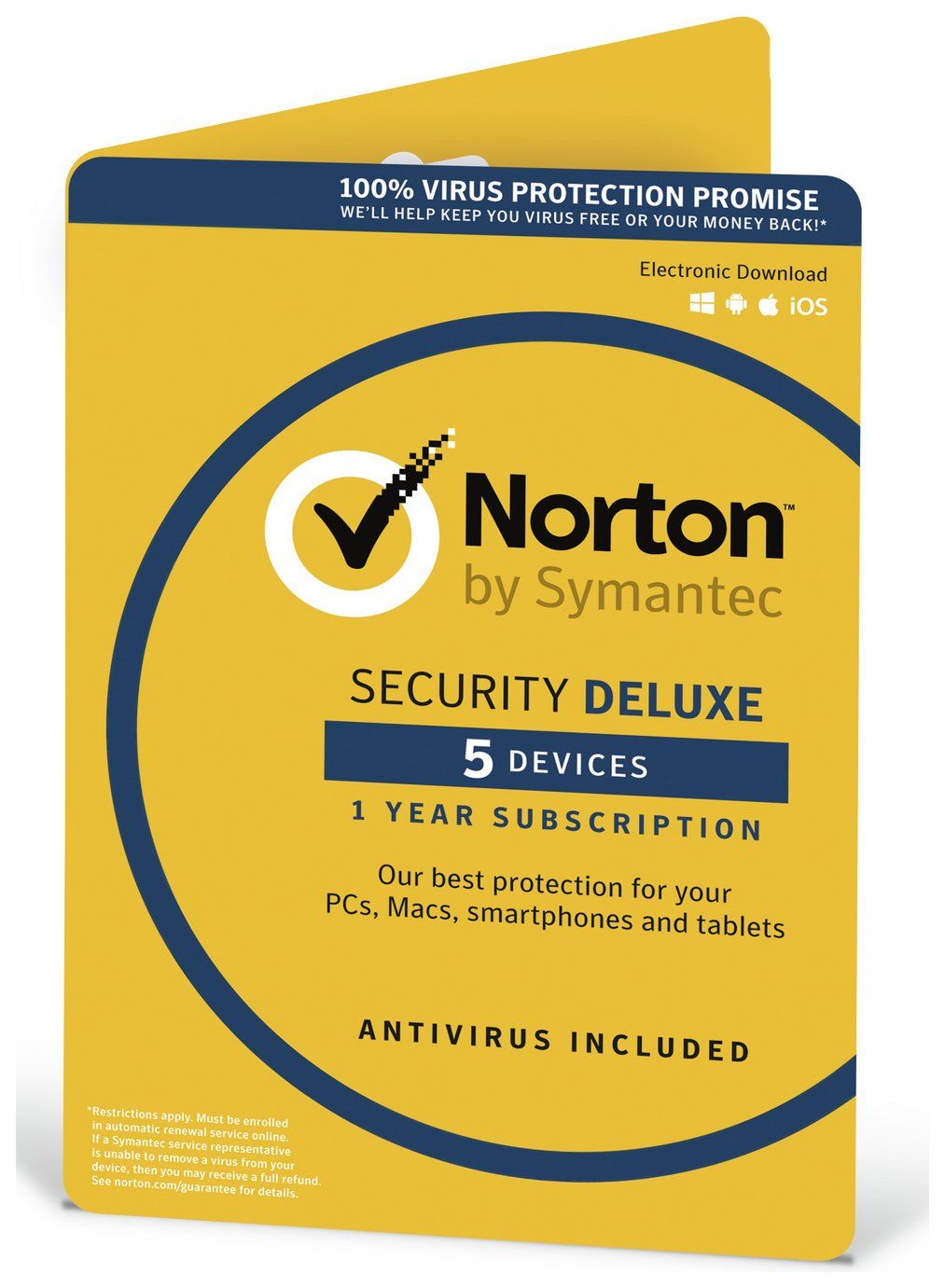 Buy Norton Security Deluxe 2019 5 Devices For 1 Year Laptop And Pc Software Argos In 2020 Norton Security Norton Internet Security Pc System