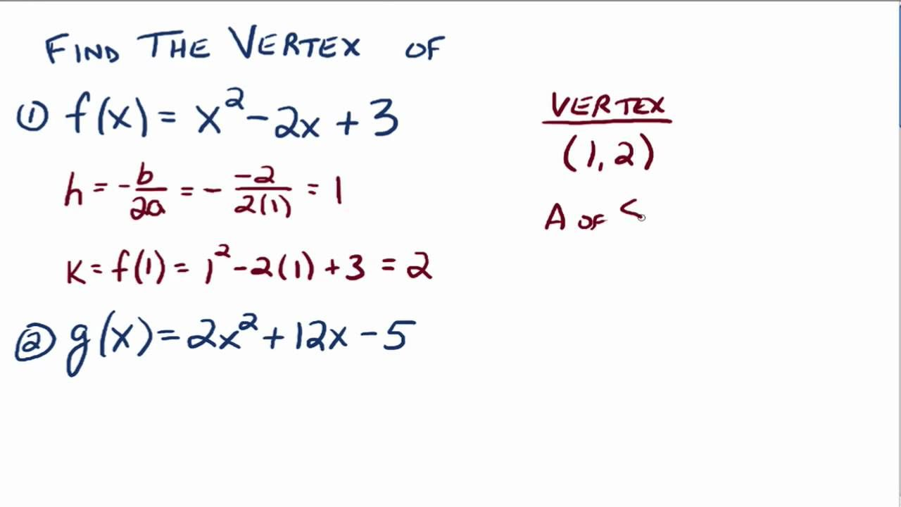The vertex formula math pinterest standard form equation and math the vertex formula is used to determine the vertex of a parabola when the quadratic function is written in general form instead of in standard form falaconquin