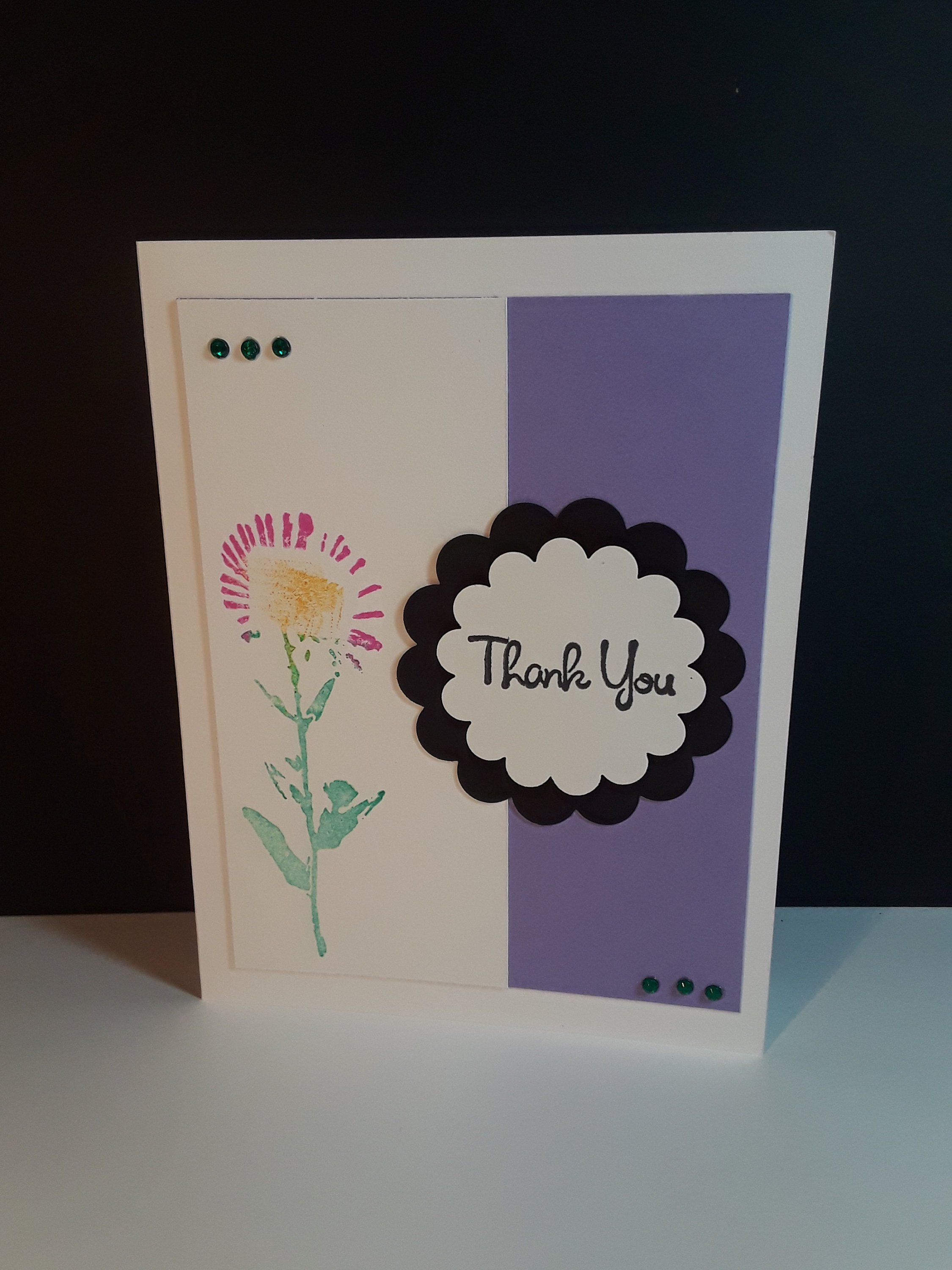 Handmade greeting card thinking of you hello friendship thank