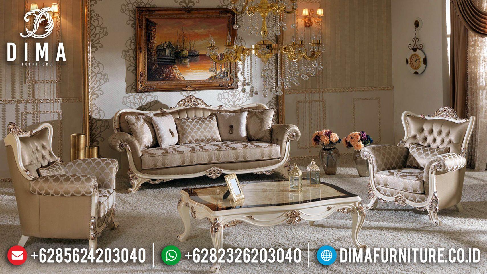 Sofa Tamu Mewah Geraldine Ukiran Classic Jepara Luxury Design Mmj 0539 Di 2020 Kamar Dekor Interior Klasik Mebel
