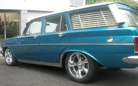 Beautiful Blue Station Wagon With Shutter Blinds Holden
