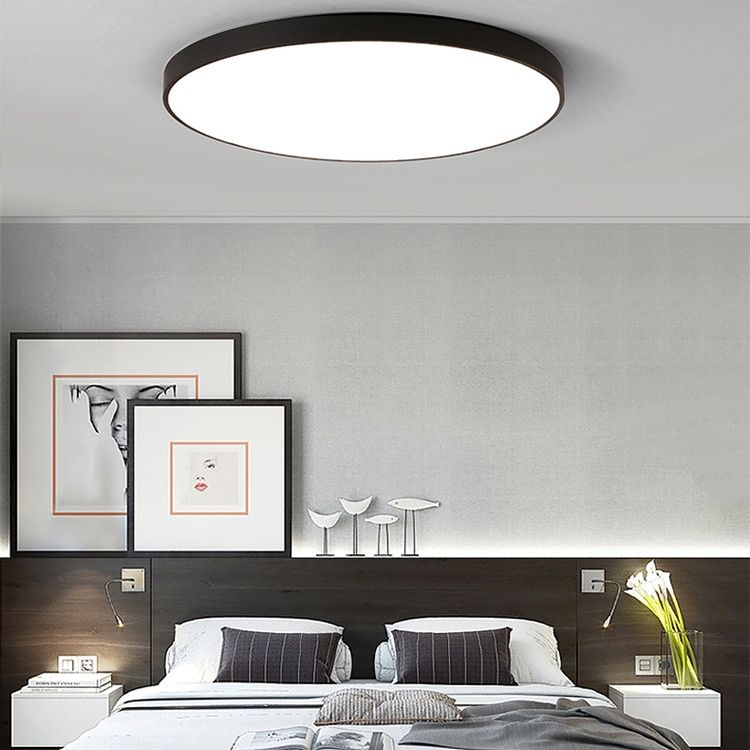Modern Led Lighting Ultra Thin Round Flush Mount Ceiling Fixture For Kid S Room Bedroom Living Room Light Fixtures Bedroom Light Fixtures Bedroom Ceiling Light