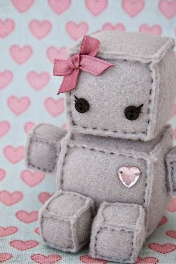 Cara Membuat Kerajinan Tangan Dari Kain Flanel Boneka Robot Kain Flanel Proyek Menjahit Boneka