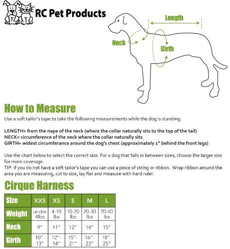 Rc Pet Products Size Chart Dog Harness Medium Dog Walking Dog