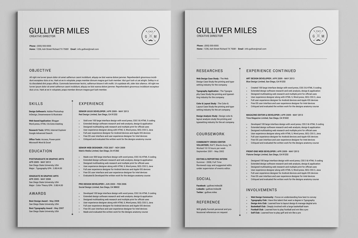 2 Pages Resume Cv Extended Pack Resume Examples Resume Cv Effective Cover Letter